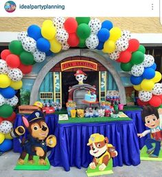 Character cut outs Paw Patrol Party Decorations, Balloon Decorations, Baby Boy Birthday, 2nd Birthday, Birthday Ideas, Paw Patrol Birthday, 4th Birthday Parties, First Birthdays, Balloons