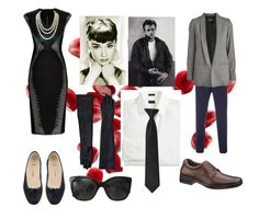 """""""Breakfast at Tiffany's for two"""" by forever-moe ❤ liked on Polyvore featuring PINGHE, Paul Smith, Designers Remix, J.Crew, Amanti Art, Chanel, MM6 Maison Margiela and Hush Puppies"""