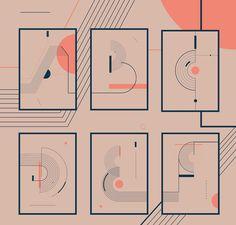 Typography \ Alphabet \ 25 Posters