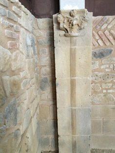 Trabajo realizado por uno de los alumnos en la tematización de piedra y ladrillo
