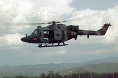 A British Army Lynx AH.7 in Bosnia during Operation Resolute, in 1996