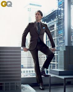 Mads Mikkelsen in a Giorgio #Armani suit