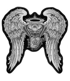 BEAUTIFUL ANGEL WINGS PINK BLUE PURPLE Lady Motorcycle MC BACK Patch LRG-0163