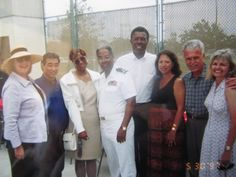 My last day in the Navy, with friends from Hawaii and Los Angeles to attended my retirement cerm.