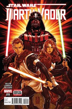 *Dinged & Dented* (W) Kieron Gillen (A) Salvador Larroca (CA) Mark Brooks • The SHU-TORUN WAR concludes! • Will Vader bring the Ore Barons in line? • Or will Cylo and his warriors show the Dark Lord h