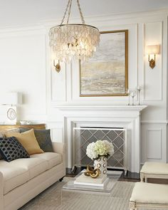 TOB by Thomas OBrien Silhouette Fretwork Sconce Visual Comfort Silhouette Fretwork Sconce Fireplace Surrounds, Fireplace Design, Fireplace Mantels, Mantles, Fireplaces, Fireplace Seating, Fireplace Kitchen, Fireplace Cover, Fireplace Shelves