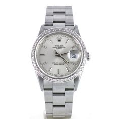 Second Hand Rolex Date 15200 SILVER DB. Preowned watches from the UK's premier outlet for luxury watches. Luxury Watches, Rolex Watches, Second Hand Rolex, Watch Blog, Rolex Date, Omega Watch, Good Things, Silver, Stuff To Buy