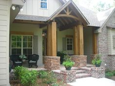 Beautiful touches with rockers and planters in Lamar County MS