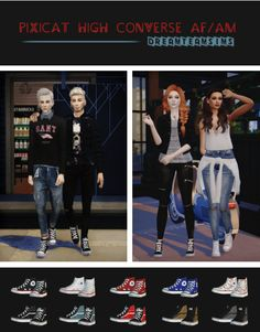 http://dreamteamsims.tumblr.com/post/138620895250/pixicat-high-converse-afam-10-swatches-credits