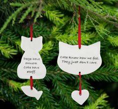 Porcelain Quotable Cat Ornament at The Animal Rescue Site