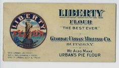 LIberty Flour / George Urban Milling Co Buffalo NY Advertising Blotter