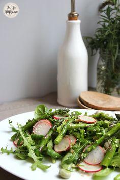 Salade de printemps pour bien commencer notre menu de Pâques, recette vegan - La Fée Stéphanie