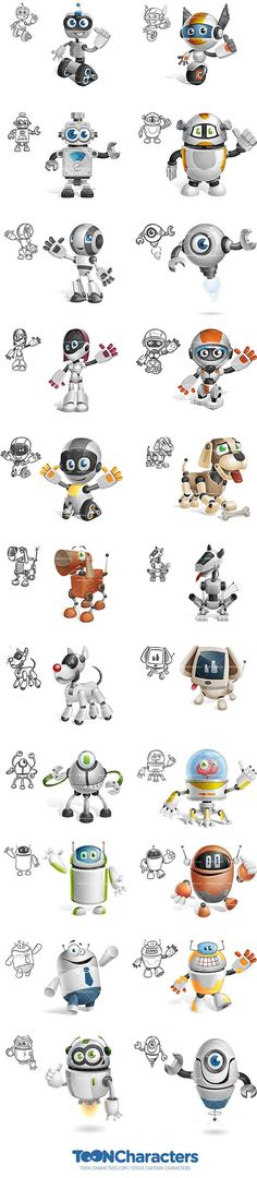 22 Robot Toon Characters are Coming Soon!: