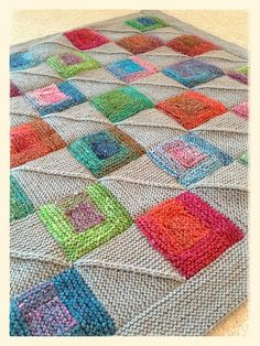 Ravelry: PeachesMeliss' Paintbox Log Cabin Blanket