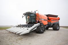 """Tribine – agriculture's latest breakthrough innovation. The giant harvesting machines on farms have been called """"combines"""" because they combined - reaping, threshing, and winnowing - into a single process. The Tribine also integrates a 1,000-bushel grain cart into the mix."""