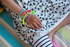 WWW.NOVAMELINA.COM Cute stuff for kids and women!    #kidsfashion #kidsstyle #neon #colors #pastel #bracelet #jewelry #cute #pretty #unique #handmade #finnish #design