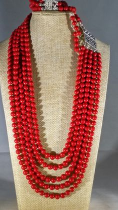 Red coral set