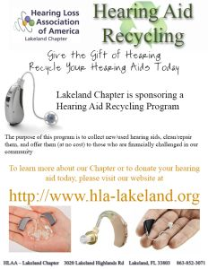 Donate your old hearing aid.