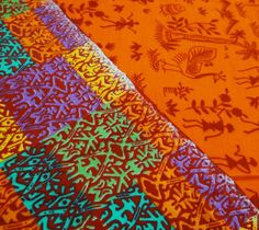 Orange Designer Pictorial Printed Cotton Inches Wide Thick Fabric By The Metre Orange Quilt, Fabric Crafts, Printed Cotton, Yard, Quilts, Amazon, Kitchen, Design, Clothes Crafts