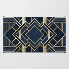 Art Deco Fancy Blue Art Print by Elisabeth Fredriksson Arte Art Deco, Motif Art Deco, Art Deco Pattern, Wallpaper Art Deco, Black Shower Curtains, Bathroom Curtains, Canvas Art, Canvas Prints, Free Canvas
