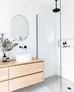 "Beaumont Tiles on Instagram: ""Who else is ✨ DREAMING✨ of a white, light and bright bathroom like this? Make that dream a reality with our Tribeca Brick, classic Belga…"""
