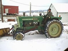 Oliver 1850 Plowin Snow Antique Tractor