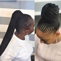 big cornrows hairstyles cornrow styles,braided hairstyles hair braiding cornrows,trending cornrows,cornrow hairstyles 2018 natural hair African Women Hairstyles Collection Can't get enough of them ? Box Braids Hairstyles, Braided Cornrow Hairstyles, Cornrow Ponytail, Braided Hairstyles For Black Women, My Hairstyle, African Hairstyles, Hairstyles 2018, Feed In Braids Ponytail, African Hair Styles Braids