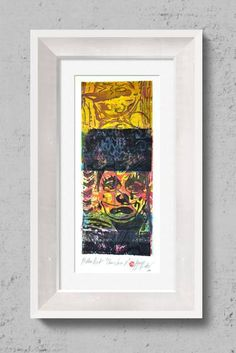 "Saatchi Art Artist Tezcan Bahar; Printmaking, ""Clown Series - 8 - Limited Edition 1 of 1"" #art"
