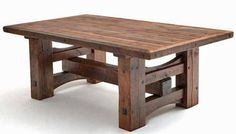 Old barn beams repurposed into this amazing table! Very nice!
