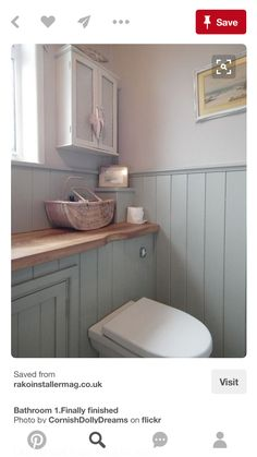 Cottage bathroom - Over the past few weeks, I have spent any spare time looking for bathroom design Downstairs Cloakroom, Downstairs Toilet, Small Wc Ideas Downstairs Loo, Small Bathroom With Bath, Small Country Bathrooms, Modern Bathrooms, Basement Bathroom, Master Bathroom, Bad Inspiration