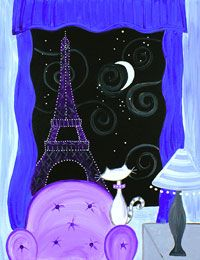"""Oh-la-la! Take a quick trip to Paris with the new #socialartworking design """"Kitty in Paris""""."""