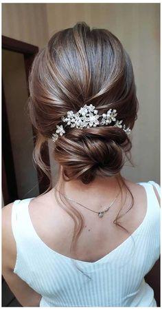 Long Hair Wedding Updos, Wedding Hairstyles For Medium Hair, Wedding Hair And Makeup, Bride Hairstyles, Hairstyle Wedding, Hairstyle Ideas, Curly Hairstyle, Bridesmaid Hairstyles, Romantic Wedding Hairstyles