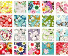 Papier Origami - Thème Fleurs