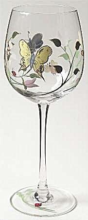 Lenox Butterfly Meadow Wine Goblets/Glasses
