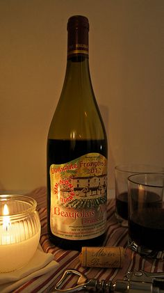 "Beaujolais Nouveau wine (the most popular ""vin de primeur"", fermented for just a few weeks before being released for sale on the third Thursday of November)"