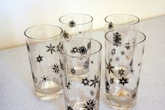 Hey, I found this really awesome Etsy listing at https://www.etsy.com/listing/243512551/retro-snowflake-tumblers-mid-century