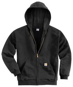 Carhartt Midweight Zip-Front Hooded Sweatshirts for Men | Bass Pro Shops | Style # K122