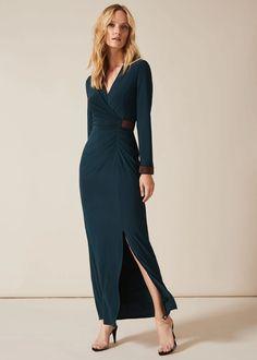 Womens Phase Eight Green Dafina Maxi Dress - Green Phase Eight Dresses, Green Maxi, Blue Maxi, Fit Flare Dress, Swing Dress, Occasion Dresses, Black Tie, Knit Dress, Evening Dresses