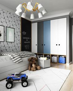 Kids Lighting Bedroom Ideas - Kamar anak - Lilly is Love Baby Bedroom, Kids Bedroom, Bedroom Small, Boys Bedroom Furniture, Kids Furniture, Wooden Bedroom, Blue Furniture, Furniture Market, Baby Room Design