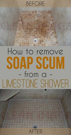 how to clean soap scum from slate tile
