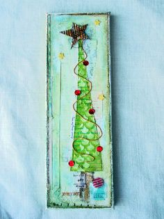 ` scrapping as I go: Christmas canvas!
