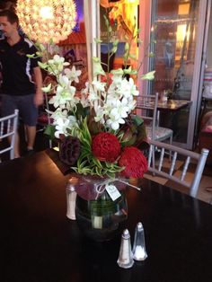 Flowers at The Hub, Varsity Lakes Corporate Flowers, Lakes, Table Decorations, Home Decor, Decoration Home, Room Decor, Home Interior Design, Ponds, Dinner Table Decorations