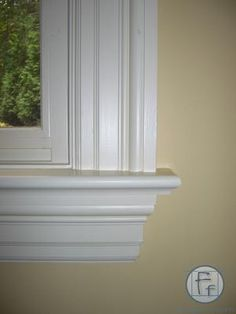 Brooke likes: window trim but with deeper sill for cats (for water closet window which is currently trimless) Window Molding Trim, Window Casing, Moldings And Trim, Home Interior Design, Interior Decorating, Interior Window Trim, Architrave, Decorative Mouldings, Door Trims