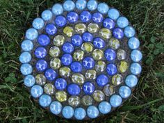 Garden Stone Made from Glass Stones and by ChristinesConcrete, via Etsy.