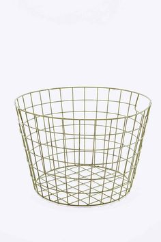 Large Metal Basket in Green