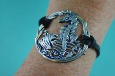Sea Horse and Fish Under the Sea Bracelet by ByTheSeashoreDecor.