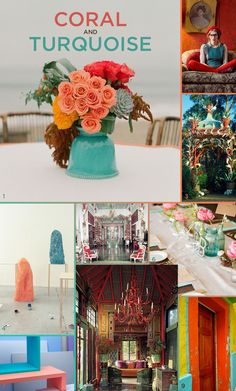 6 Unexpected Color Combinations That Look Amazing Together I <3 coral & turquoise