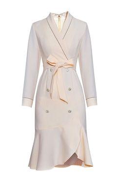 c2996a0c8db W200828 - Vestido Elegante Preto ou Branco com Botões Jóias - Material   lanon  westfrontpt