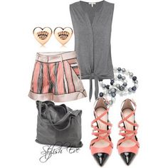 Spring/ Summer 2013 Outfits with Shorts for Women by Stylish Eve