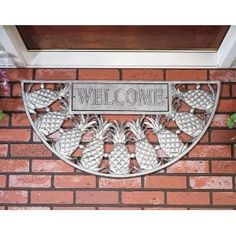 Whitehall Products 05024 Pewter Silver Pineapple Aluminum Welcome Mat Whitehall Products, My Pool, Welcome Mats, New Home Designs, First Home, My New Room, My Dream Home, Dream Big, Front Porch